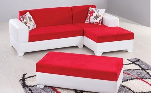 Kırmızı beyaz köşe koltuk (spot sıfır 220 lira)