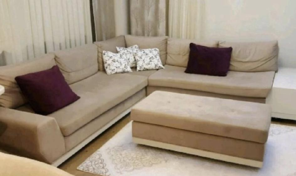 istanbul içi satılık L koltuk takımı. krem renginde temiz ürün