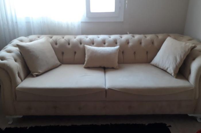büyük ve rahat geniş 3 kişilik koltuk kanepe çekyat