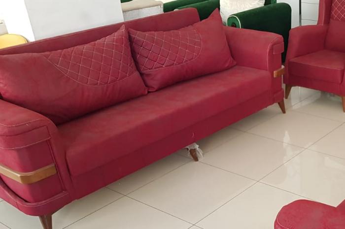 bordo kanepe sandıklı açılınca yatak alan modeli