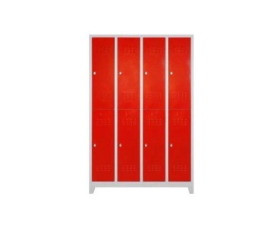 2.el temiz 8'li kırmızı kapaklı personel soyunma dolabı