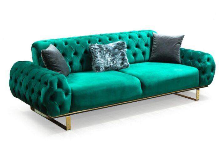 ikinci el zümrüt yeşili koltuk takımı
