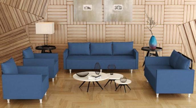koltuk takımı petrol mavisi temiz mobilya